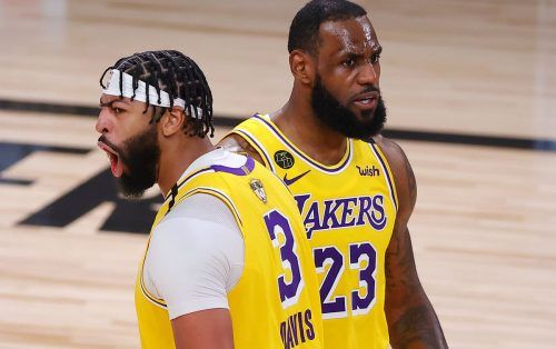 LeBron James and Anthony Davis Los Angeles Lakers